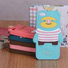cute shape and skin-touch animal shape silicone phone case for iphone