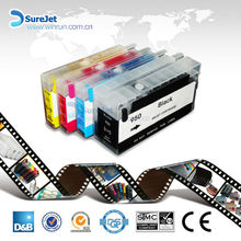 Surejet full/ empty refillable cartridges 950 951 for hp printer ink refill kits auto reset chip