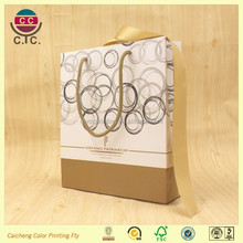 paper packing bag with polyster string handle