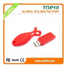 Factory direct stock usb stick fish shape red color usb flash drive