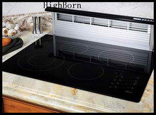 heat resistant black color ceramic glass plate per drawing