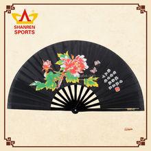 Chinese Bamboo Folding Paper Hand Fan Big Bamboo Paper Fan