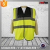 high quality yellow and black reflective traffic safety vest
