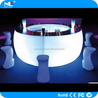 mobile and portable LED round and shine bar counter for bar and nightclub