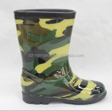 2014 New Camo Boys Sex Picture Rain Boots For Kids