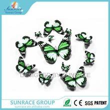 Verde 3d mariposa de papel decoración de la pared