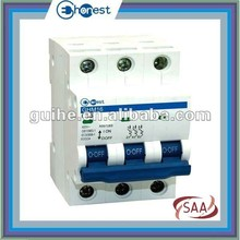 GHM16-63 Miniature circuit breaker MCB with SAA certification, electrical circuit breaker,mcb switch,mcb