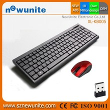 Inexpensive Single Area slim 2.4 ghz wireless r8 keyboard mouse