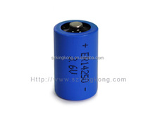 3.6v 1200MAH li-ion 14250 battery