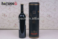 Fashion Cylinderical Paper Wine Carrier for Single Bottle