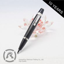 Small Order Accept Samples Are Available Fashionable Design White Metal Roller Ball Pen