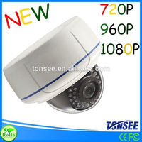 Hot selling high quality dvr cctv software windows xp 720P/ 960P /1080P dome IP camera