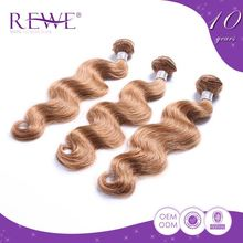 Good Price Natural Color Remy Brazilian Honey Blonde Hair Extension Weave
