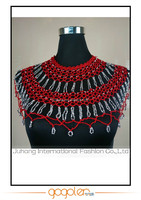 New summer fashion hot sale India style crochet flower handmade with silver Rhinestone beaded tops/poncho