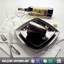 New design fashion low price square melamine dinnerware