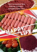 Red Fermented Rice/ red rice powder/ natural colorant/ partially substitute for chromophoric agent sulfite