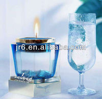 Clear Crystal Cup Pedestal Candleholders