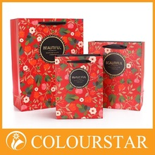 well made but cheap logo print decorate gift paper bag