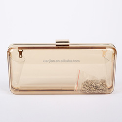 Very Hot Sell Multicolored Lady Summer Perspex Plastic Clear Clutch Bag (CREB118)