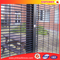 House Security Vinyl Coated Welded Iron Wire Mesh Panel Fencing