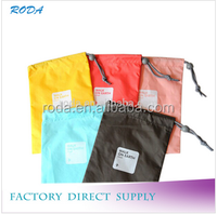 Best quality square travel storage bag/fashion detergent drawstring storage bag