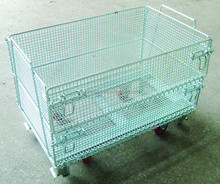 Euro Wire Pallet Cage Folding Stainless Steel Wire Mesh Containers