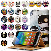 Universal Smartphone Case With Card Slot For Lenovo S90 Printing PU Leather Wallet Flip Cover