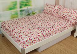 Classic Dot Design 100% Cotton 40s 128x68 Reactive Printed Sheet Sets/flat sheet/fitted sheet/pillow case