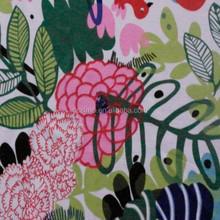 100%polyester 3D Needle-like leaves printed silk soft chiffon fabric