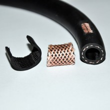 MZ flexible textile braided auto air conditioning hose