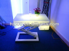 LED lighted table with adjustable height base