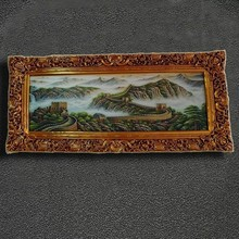 Large size antique resin muslim frame for oil painting and shows