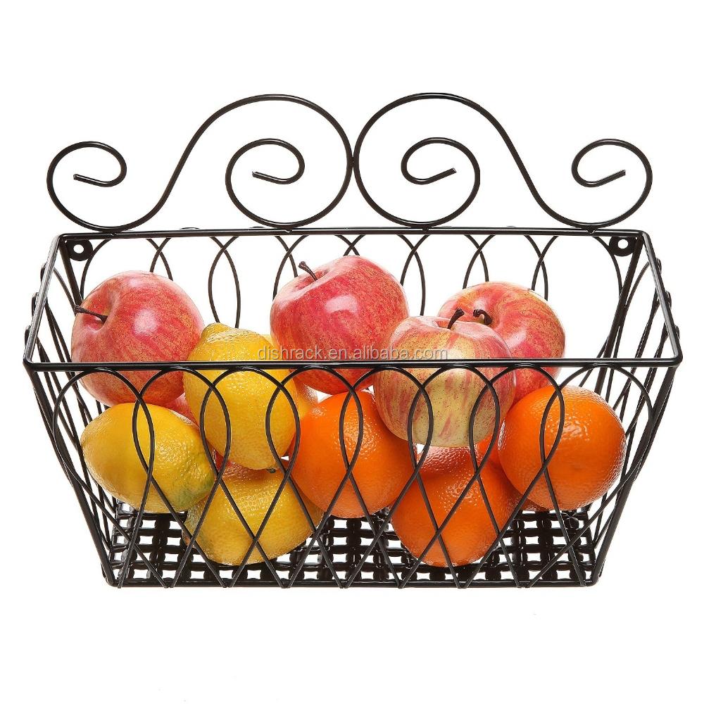 Wall Mounted Decorative Metal Chrome Fruit Basket Buy