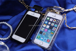 2015 New Design Phone Case Perfume Bottle Jelly Case TPU Back Cover Case for iPhone 6/6P 5/5S 4/4S with chain
