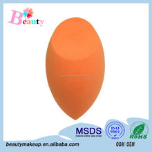 2015The Best Hot Sale Product Of Makeup Clean Sponge Flawless Smooth ,The Special Shape Colour Orange For Free Sample