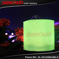 2015 Seksun Best sell Waterproof PVC Multi-function solar power lamp RGB solar table lantern