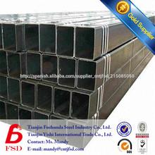 BS1387 cuadrada de acero de la tubería precio por tonelada
