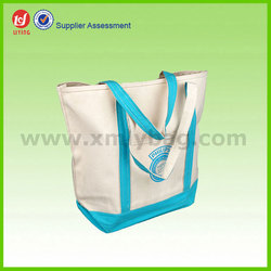 Hot Sale Organic cotton Blank Canvas Tote Bag for Shopping