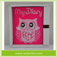 Customer Hardcover Dary Paper Notebook With lock