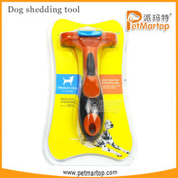 2015 hot selling pet products small dog comb long-haired handle brush pet