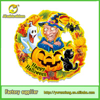 glitter round stirker artificial halloween decoration pumpkin -Ghost-witch-cat