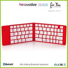 Creativo con estilo del teclado último modelo Bluetooth teclado con puerto USB para de carga