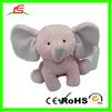 high quality customized wholesale elephant plush toys soft plush pink long ear elephant