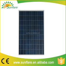 China supplier low price 150w 18v poly solar panel with full certificate