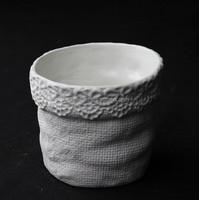 Hot sale indoor small white ceramic flower pot