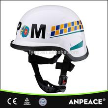 Three-point suspension system motorcycle helmet chin strap