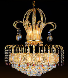 Luxury Big diamond crystal ball pendant light , glass crystal lighting