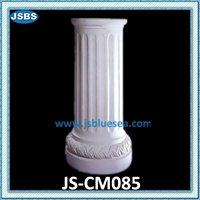 White Decorative Marble Stone Gate Pillar Design