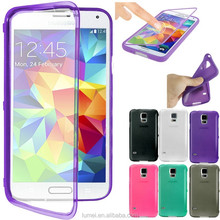 Flip TPU Soft Slim Wallet Silicone Gel Case Cover For Samsung Galaxy S5 I9600