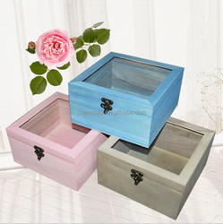 pretty storage boxes wood made for gift